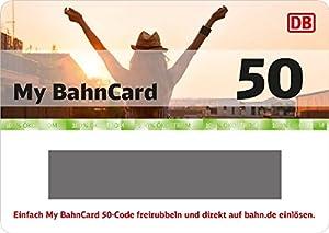 Deutsche Bahn | My BahnCard 50 Geschenkkarte (Gutschein ausschließlich einlösbar von jungen Reisenden zwischen 6 und 26 Jahre!) - exklusiv bei Amazon