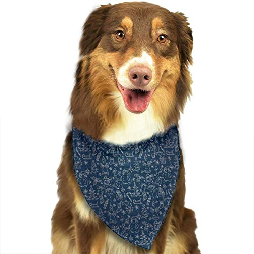 ee Snowman Gift Lollipop Fashion Dog Bandana Pet Accessories Easy Wash Scarf ()