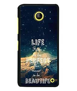 PrintVisa Designer Back Case Cover for Microsoft Lumia 630 (Life Perfect Beautiyful Water Pond Sea Motivation )