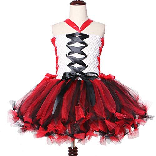 DONGBALA Vampir-Kleid, Mädchen Zombie Kleid Kinder Halloween