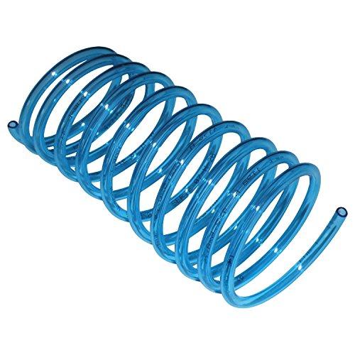 Ersatz-Schlauch blau-transparent geeignet für Munddusche Braun Oral-B, spiralform 1,25 m + Reparaturanleitung per Mail