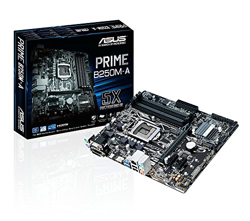 Price comparison product image ASUS PRIME B250M-A Motherboard - Black (Socket 1151/B250/DDR4/S-ATA 600/Micro ATX)