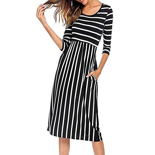 LILICAT Damen Casual Kleid Maxikleid Partykleid Strandkleid Abendkleid Sommer Kleid Beiläufig...