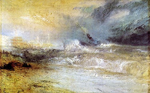 Das Museum Outlet - Waves Breaking on a Lee Shore von Joseph Mallord Turner - A3 Poster