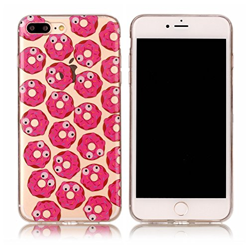 Coque iPhone 7 Transparente, LuckyW Housse Etui TPU Silicone Clear Clair Transparente Gel Slim Case pour Apple iPhone 7 7S(4.7 Pouces) Soft de Protection Cas Bumper Cover Converture Anti Poussières Co Donuts