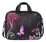 MySleeveDesign Laptoptasche Notebooktasche mit Tragegurt für 13,3 Zoll / 14 Zoll / 15,6 Zoll / 17,3 Zoll - VERSCH. DESIGNS - Butterfly Light [17]