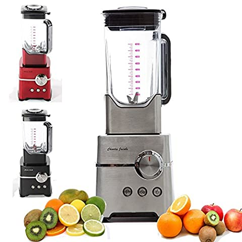 Charles Jacobs High Power Food Blender Powerful 2000W Motor Fruits Mixer, Juicer, Grinder, Ice Crusher, Smoothie Maker with 2L Jug - Choice of