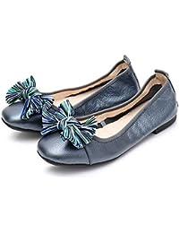 RegbKing Zapatos Planos Zapatos De Mujer Pajarita Mocasines Bombas Zapatos Plegables Botes De Barco Mocasines Zapatos