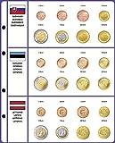 Lindner 8450-39 Vordruckblatt EURO COLLECTION: Kursmünzensätze Slowakei/Estland/Lettland