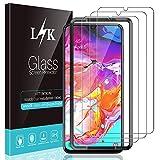 L K 3 Pièces Protection Écran pour Samsung Galaxy A70, A70 Verre Trempé [9H Dureté] [Anti-Rayures] [Kit d'installation Offert] [Haute Définition] Transparent Film Protection