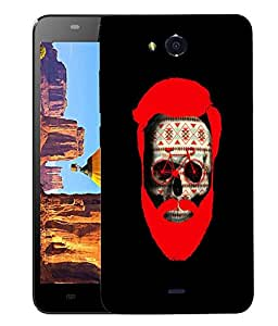 Snoogg Beard Skull Designer Protective Back Case Cover For MICROMAX CANVAS PLAY Q355