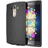 delightable24 Funda Case Protectora con Diseño de Malla TPU Silicona LG G4 - Negro