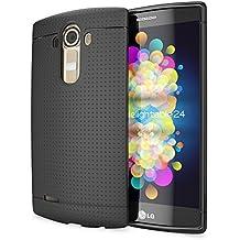 LG G4 Funda Carcasa de NICA, Protectora Movil TPU Silicona Fina Mesh Bumper Estuche con Puntos, Goma Gel Cubierta Cobertura Delgado Dot Cover Smartphone Case para Telefono LG G-4 - Negro