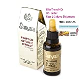 Brazilian Green Bee Propolis Glycolic Extract Gold by Sunyata - Best Nature Bee Propolis- Antioxidant - Alcohol Free 30ML- EXPORT Quality - FDA Registered - Premium Quality -Free eBook: 7 Keys to Body Transformation exclusively by EliteTrendHQ US Seller (1) by Sunyata by EliteTrendHQ