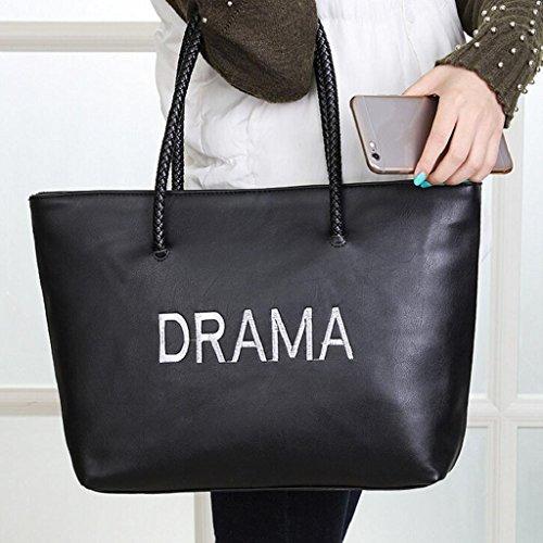 2017 Borse donna,Kangrunmy Moda donna in pelle borsa a tracolla tracolla Messenger Phone Coin Nero