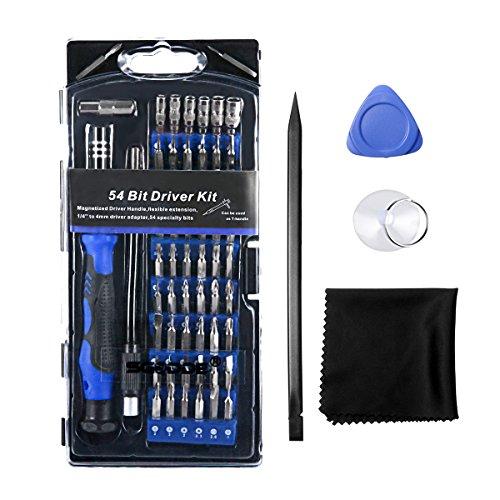 Preisvergleich Produktbild Schraubendreher Set, SGODDE 63 in 1 mit 56 Bits Magnetische Präzisions Reparatur Schraubendrehersatz Werkzeug set für Handy, Tablet, PC, Macbook, Uhr etc