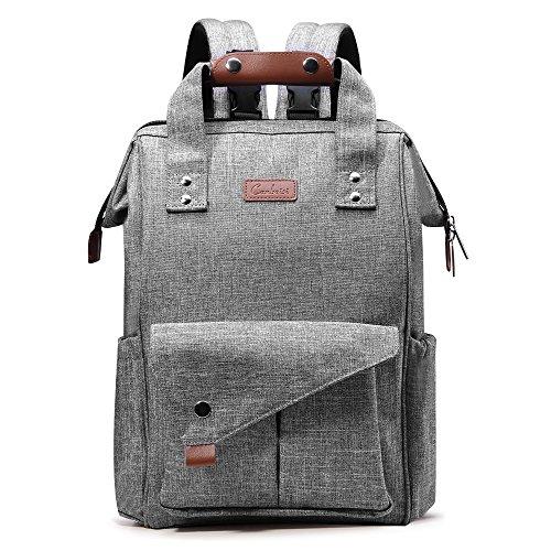 Wickeltasche, canbeisi Multifunktions-Baby Windel Tasche Rucksack mit kinderwagenhalter und isolierten Taschen, wasserdicht Windel Wickeltasche (grau)