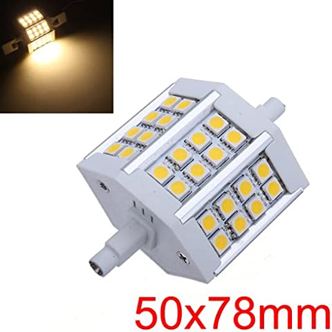 R7S Base 5W blanco cálido 24 SMD 5050 LED Luz Lámpara Bombillas 85-265V.