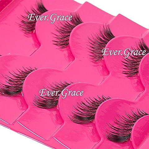 5 Pairs Handmade Extension Fashion Half Eye Lashes Mini Corner Eyelashes Natural