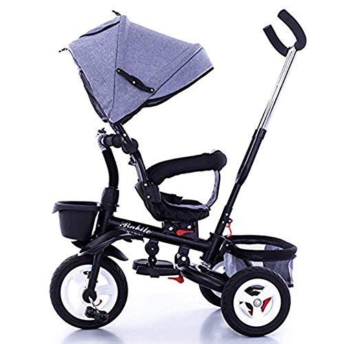 Qivor Kinderwagen Kinder-Dreirad 1-6 Jahre alt Leichter Klappwagen mit UV-Markise, 6 Farben erhältlich (Color : 3)