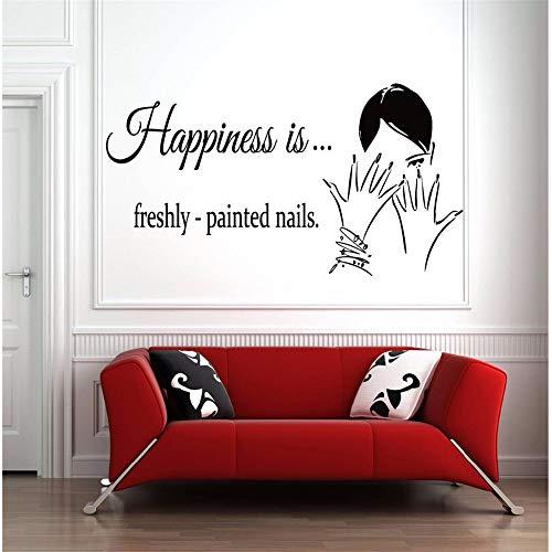 Aufkleber-Nagel-Zitat-Wand-Fenster-Aufkleber Schönheits-Salon-Dekor-Entfernbare Nagel-Kunst-Entwurfs-Wand-Fenster-Plakat ()