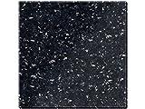 Creative Tops Untersetzer, 100% Granit, Natural Black, 4 Stück