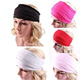 Sportmaking High Quality Store Womens Wide Headband Yoga Headband Boho Headband Running Headwrap Nonslip Hairband
