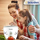 Brayden Rizo, 500 W Electric Rice Cooker with One-Step Automatic Cooking (Pearl White, 1.5 Litre)