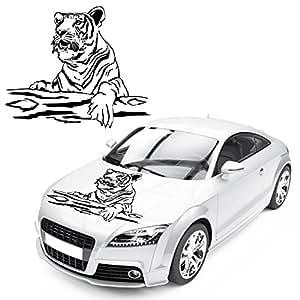 tiger auf baum auto tattoo sticker raubtier motiv raubkatze autoaufkleber tiere kb320 amazon. Black Bedroom Furniture Sets. Home Design Ideas