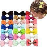 Oyfel Haarschleifen Damen Haarclips Haarnadeln Haarspangen Haar Bögen Design Farben für Mädchen Frauen Kinder Kleinkind Baby Set von 20 Stücke