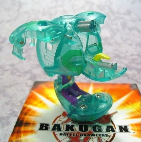Bakugan B3 Bakulyte (Loose) Single Figure Zephyroz (Green Translucent)) Spindle by Bakugan
