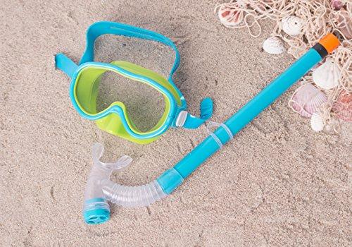 BALANCE® Junior Tauchermaske mit Schnorchel für Kinder von 3-7 Jahre, modische Farbe, kompakt, Qualität in Deutschland geprüft