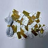 SODIAL 3V SMD Lamp Beads con lente optica Fliter para 32-65 pulgadas LED TV Repair (50pcs 3V con cable)