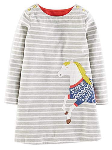 Kaily madchen baumwolle langarm t shirt kleid