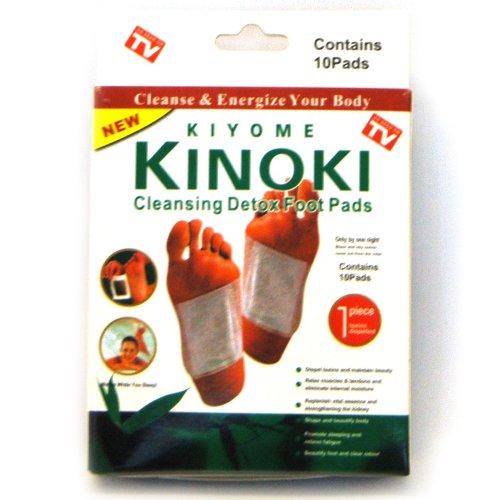 Kinoki Detox Entgiftungspflaster, 100 Vitalpflaster zur Entgiftung als Fußpflaster, Detox Foot-Pad