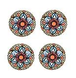 #7: Amber Shine Ceramic Door Knobs Handpainted & Decorative/ Door Handles/ Cabinet/ Wardrobe / Almirah / Drawer / Door Pulls/ Cabinet Pulls/ Drawer Pulls (Set of 4)