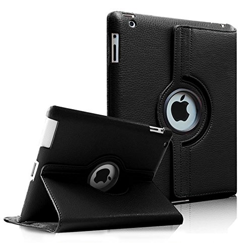 Moca 360°Degree Rotating Pu Leather Smart FlIP Case Cover For iPad 2...