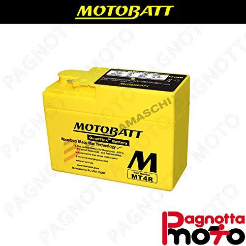 E06034 BATTERIA BATTERY PRECARICATA MOTOBATT MT4R BS VILLA ZX 50 1994>1995 12 V 2_5 AH 114 X 49 X 86 MM ACIDO