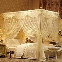 GroBartig CJJC Europäische Elegante Prinzessin Bett Moskitonetz, Quadratische Bett  Baldachin Mädchen Warme Netting Vorhänge Für Queen