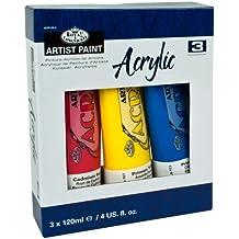 Royal & Langnickel ACR120-3 - Pack de 3 pinturas acrílicas de 120ml