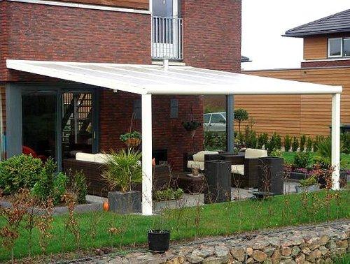 ALU Terrassenüberdachung 300 Cm X 300 Cm Wahlweise In 3 Farben  Montagefertig Überdachung Vordach Übe