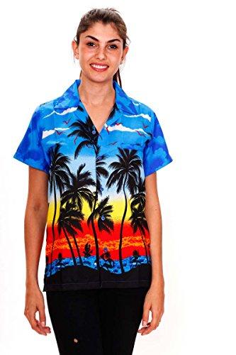 Funky Chemisier Hawaienne XS-6XL Bleu
