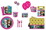 Mega großes Frozen Sorglos Paket Partygeschirr Party Set Geburtstagsset Servietten Becher Teller Einladungskarten Partytüten Kindergeburtstag Tischdecke Deko