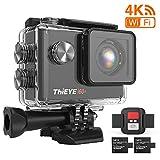 Camera Sport ThiEYE i60+ Caméra Sport 4K WiFi 20MP 170 ° Grand-Angle Action Camera Caméscope 60M Etanche 2.0 '' LCD HD Ecran 2.4G Télécommande 2 Batteries Rechargeables 1050mAh et Kit d'Accessoires