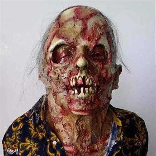 Horror Maske Zombie Masken Party Cosplay Blutig Ekelhaft Rot Gesicht Beängstigend Maskele Maskerade Mascara Terror Masker Latex ()