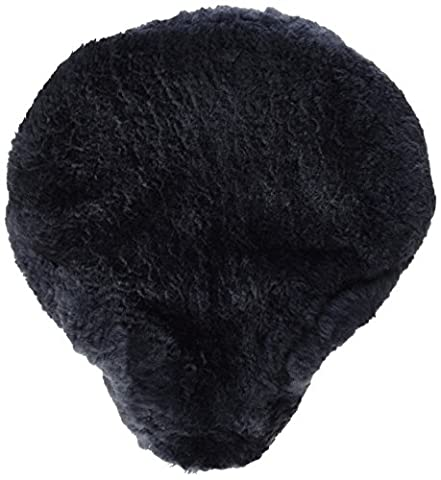 Bicycle seat cover saddle cover Sheepskin color anthracite grey (FSB A) size 30x25cm