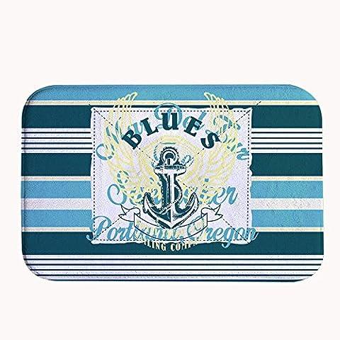 Deep Purple Verona - whiangfsoo élégant bleu marine Anchor Corail en