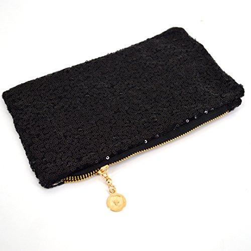 Meliya , Damen Clutch, schwarz (schwarz) - bb-01439-02YA schwarz