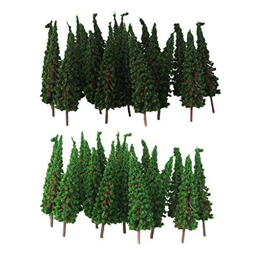 MagiDeal 100 stk. Modell Bäume Zug Eisenbahnen Architektur Landschaft Layout, 6.5cm