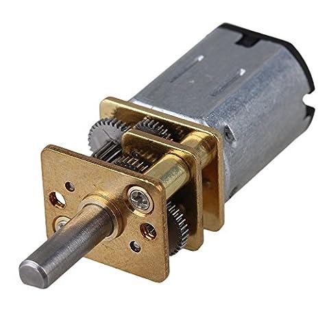 CNBTR 12mm Silver GA12-N20 30RPM Miniature Metal Electric 6v DC Gear Motor Gearwheel with 10mm Output Shaft
